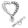 Toggle Fancy Heart 26mm Antique Silver